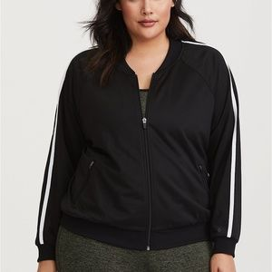 Torrid Active Black Stripe Track Jacket 1 14/16